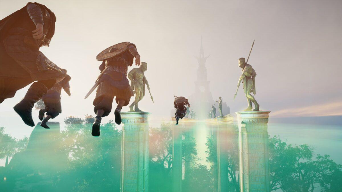 In Assassin's Creed Valhalla laufen Wikinger und nordische Götter über den Bifröst in Asgard.