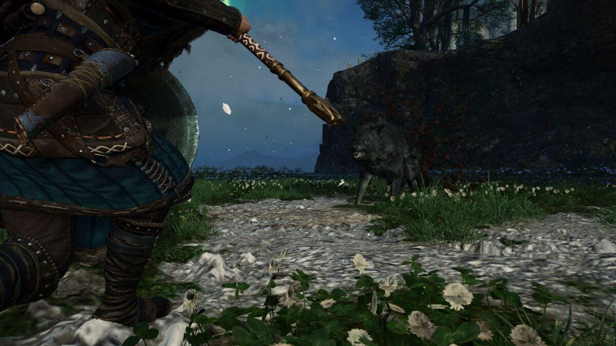 Götterkönig Havi kämpft in Assassin's Creed Valhalla gegen den verlorenen Wolf.