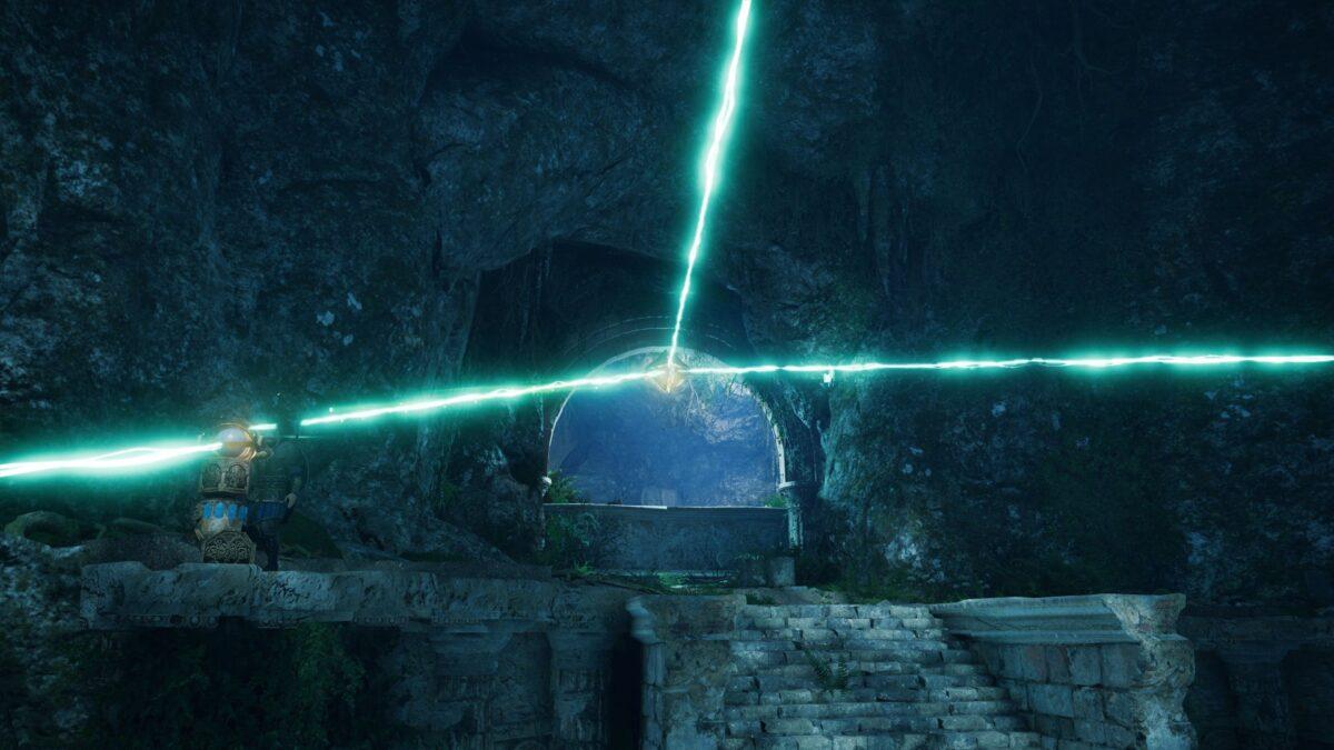 Drei Sonnensteine spalten magisches Licht von Asgad in Assassin's Creed Valhalla.
