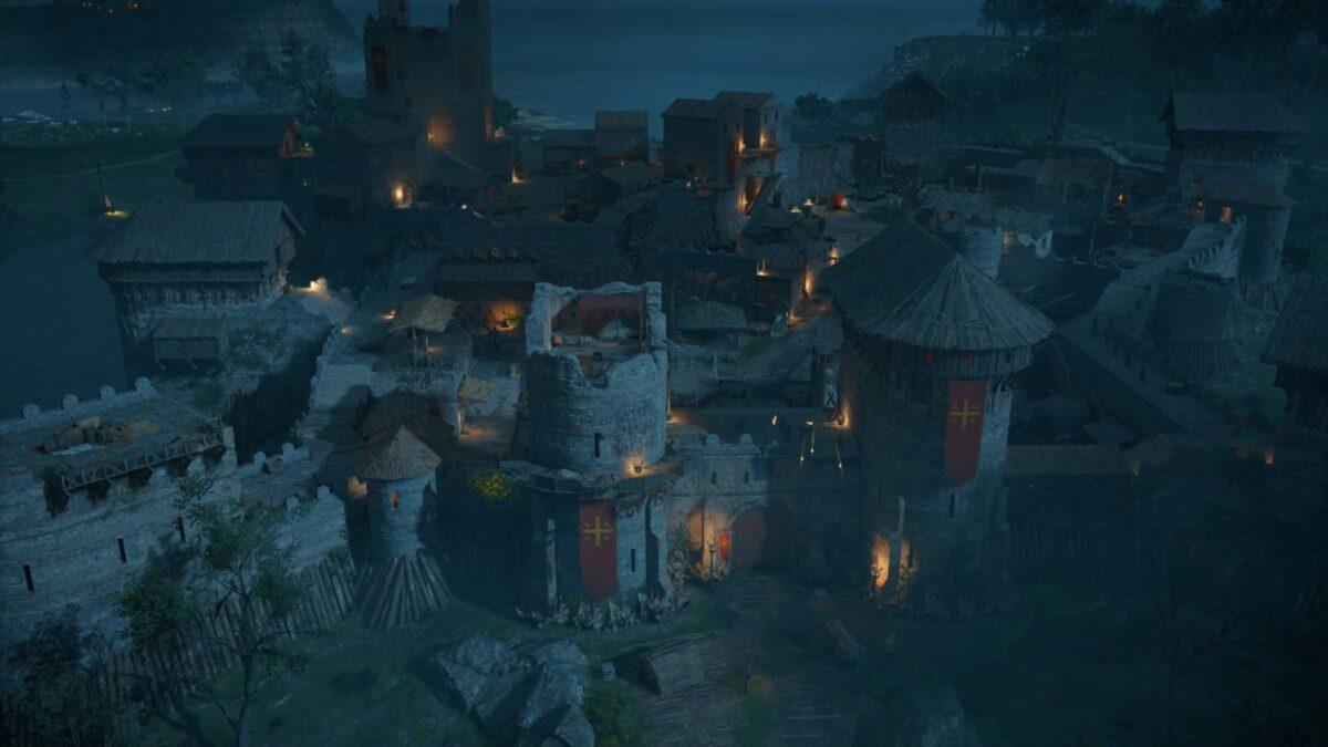 Die Veste Hrofecaester im Spiel Assassin's Creed Valhalla.