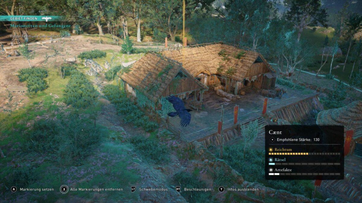 Ein sächsisches Haus in Beamasfield im Spiel Assassin's Creed Valhalla.
