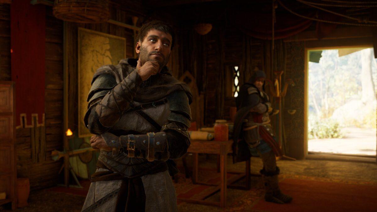Haytham und Eivor unterhalten sich in Assassin's Creed Valhalla.