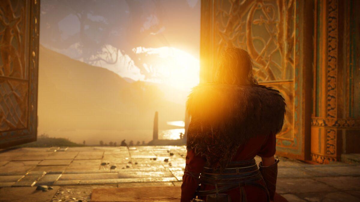Die mythische Götterwelt Asgard in Assassin's Creed Valhalla.