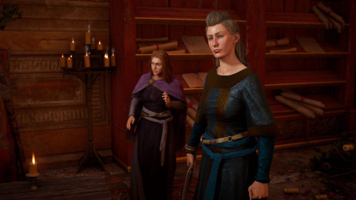 Lady Estrid, die Frau des Aldermanns von Colencaester in Assassin's Creed Valhalla.