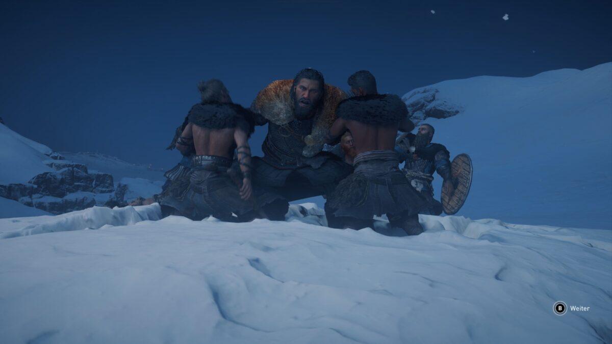 Jarl Halfdan kämpft gegen Pikten-Krieger in Assassin's Creed Valhalla.