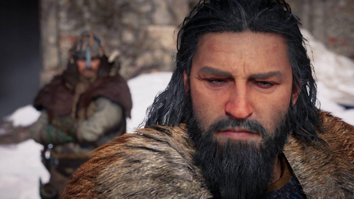 Jarl Halfdan und Wikinger Eivor in Assassin's Creed Valhalla.