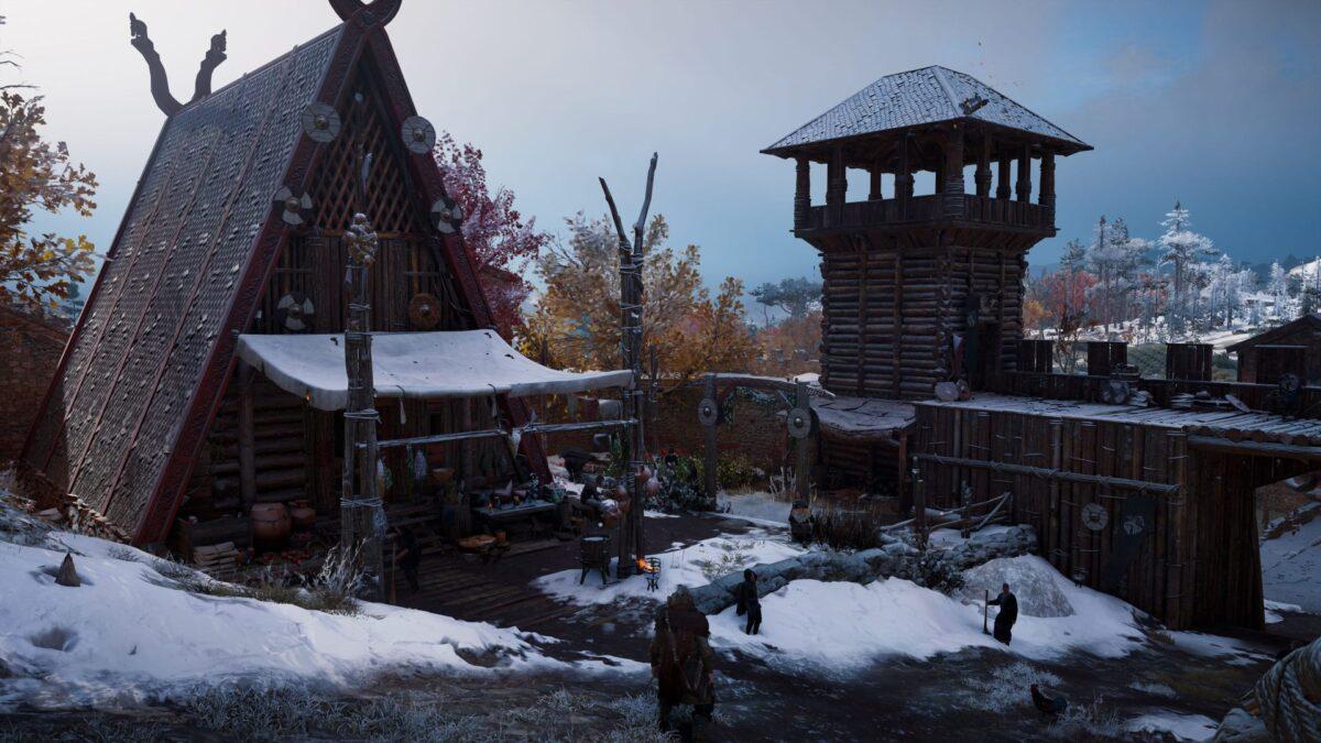 Eine Hütte in Doncaester im Spiel Assassin's Creed Valhalla.