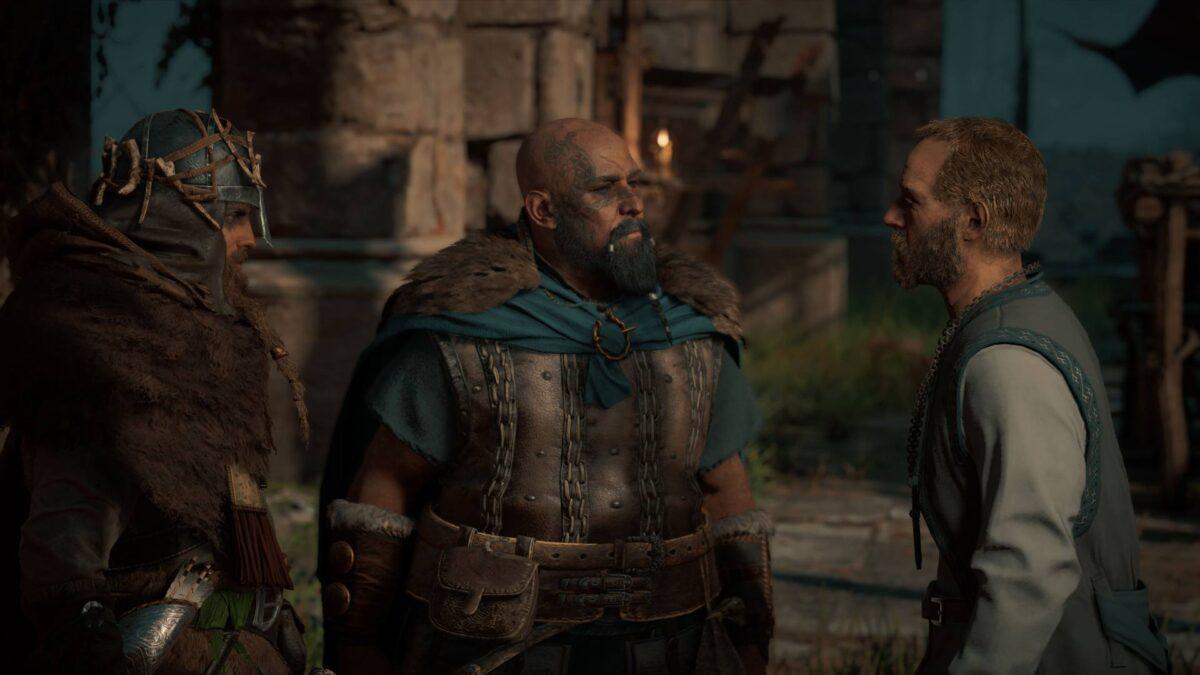 Gunnar stellt in Assassins's Creed Valhalla Eivor den künftigen Aldermann Tewdwr vor.