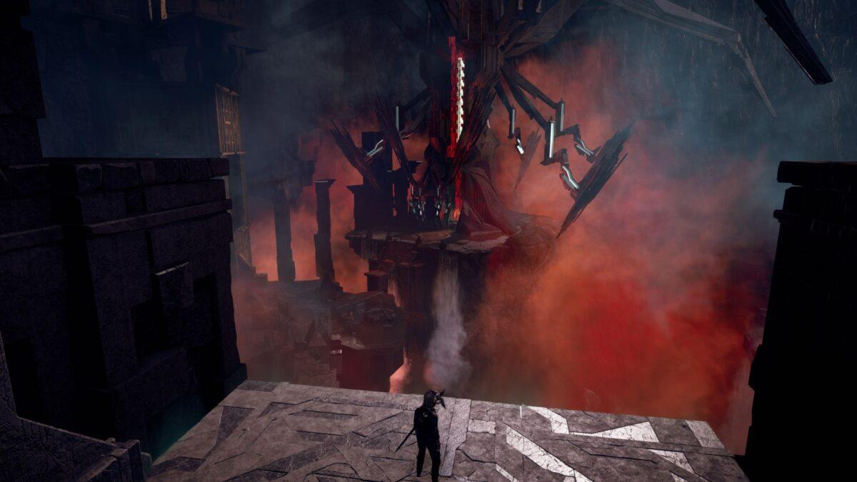Wissenschaftlerin Layla fährt Assassin's Creed Valhalla in eine Höhle in Nordvege hinab.
