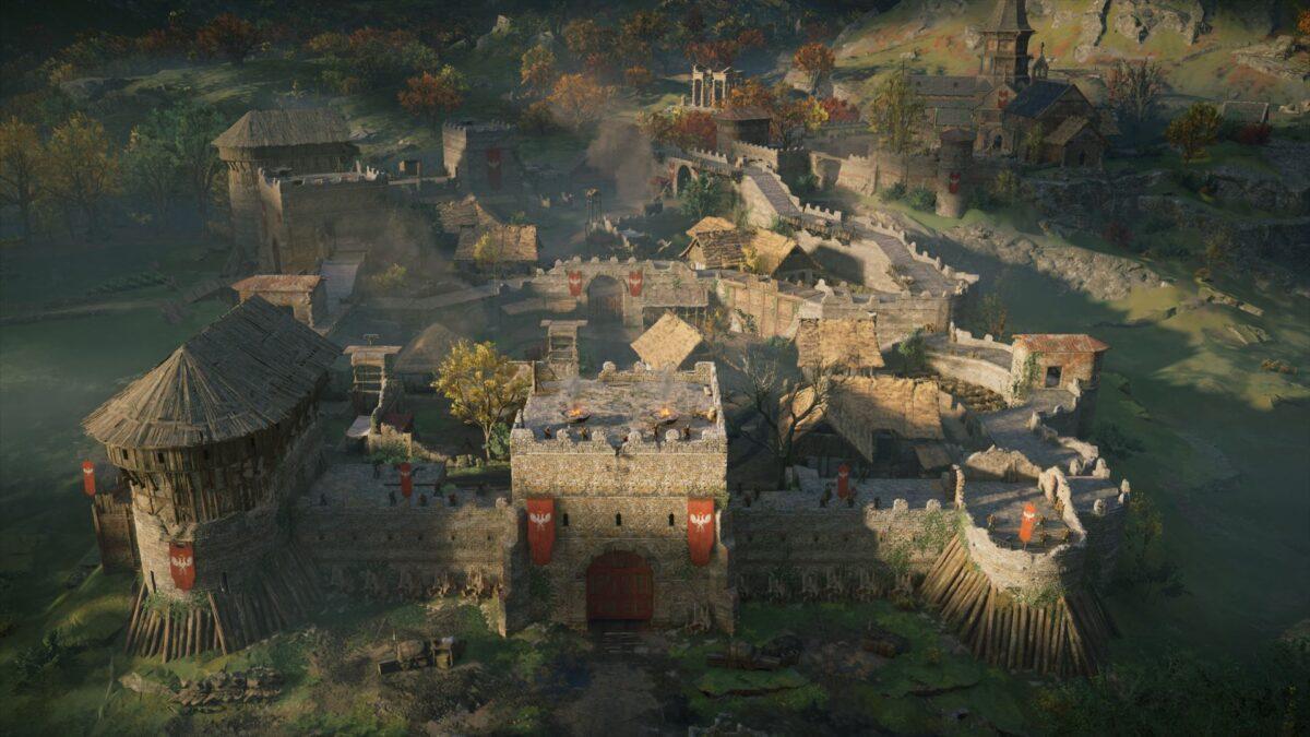 Anecaester, der Sitz von Bischof Herefrith in Assassin's Creed Valhalla.