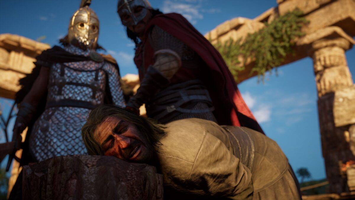 Eine Hinrichtung in der Stadt Wincaester in Assassin's Creed Valhalla.