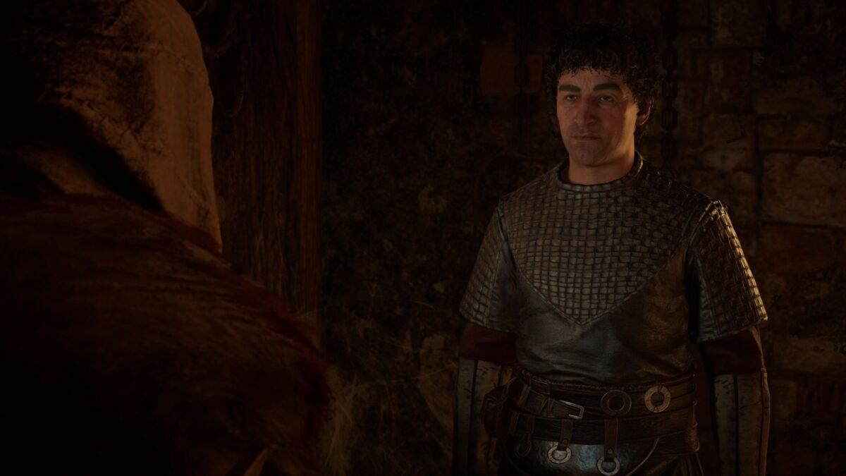 Godwin spricht mit Eivor in Assassin's Creed Valhalla.