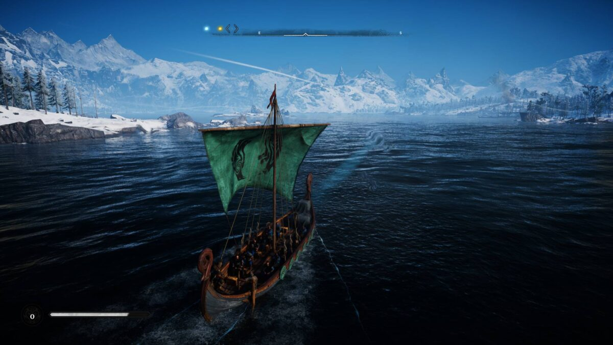 The longship in Assassin's Creed Valhalla.