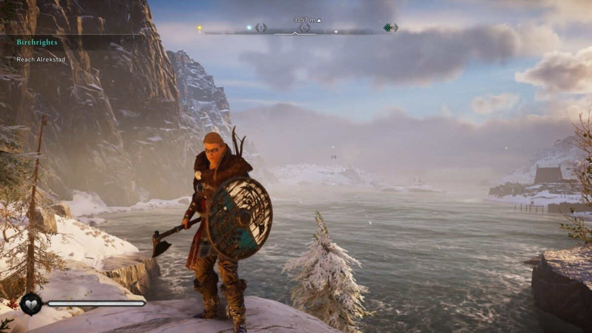 Eivor with the Raven Clan Shield in Assassin's Creed Valhalla