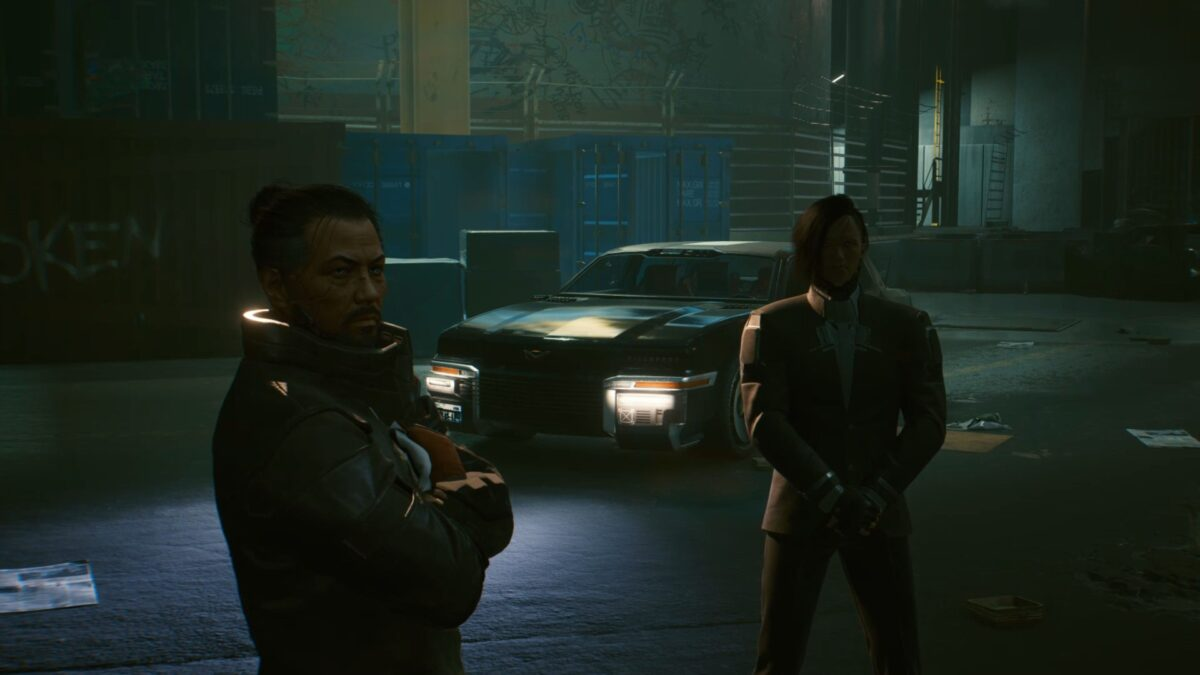 Takemura bittet seinen alten Freund Oda um Hilfe in Cyberpunk 2077.