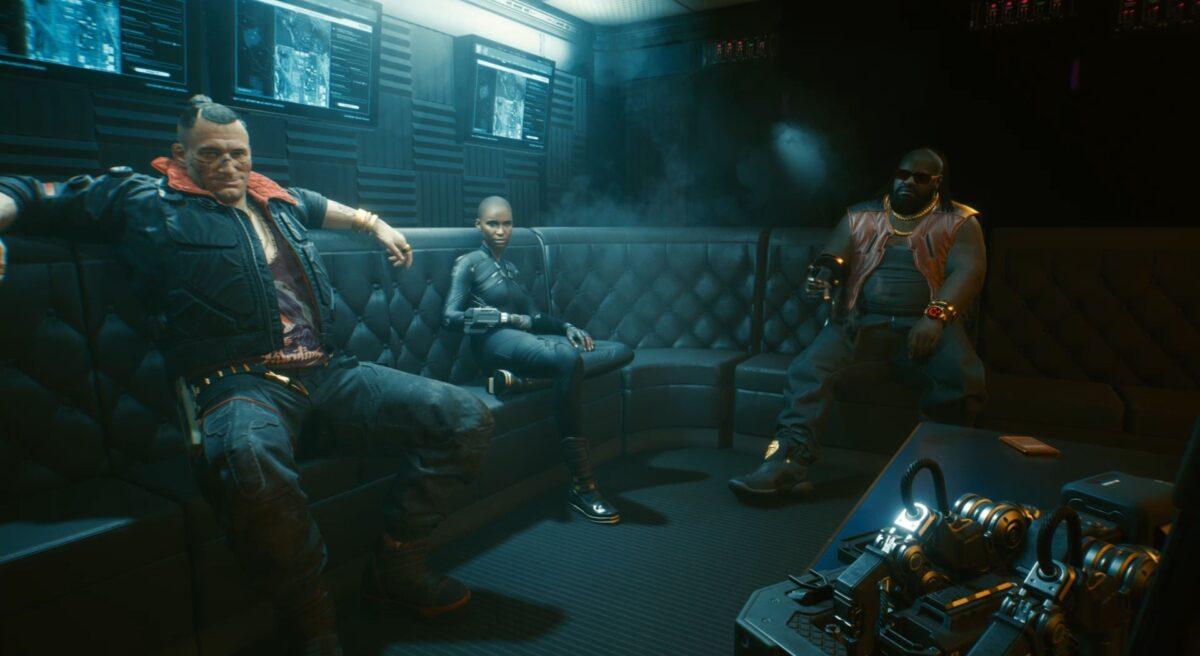 V bespricht den Plan mit Jackie, T-Bug und DeShawn in Cyberpunk 2077.