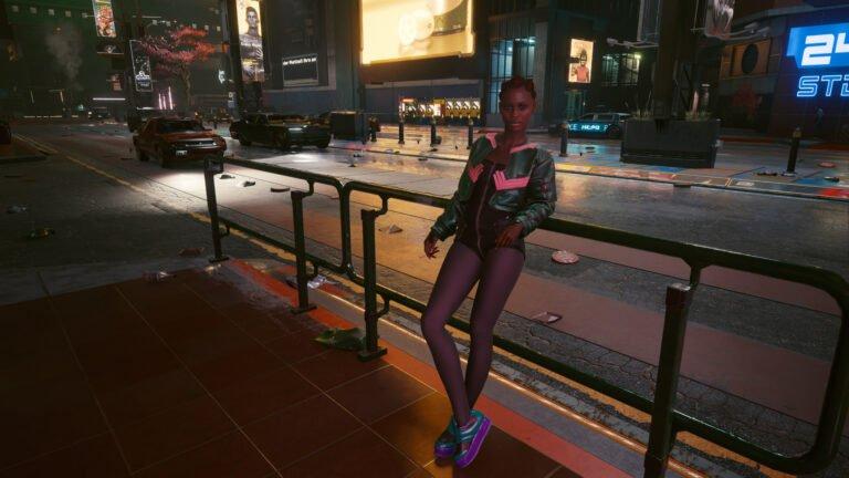 Sportlicher weiblicher NPC in Cyberpunk 2077