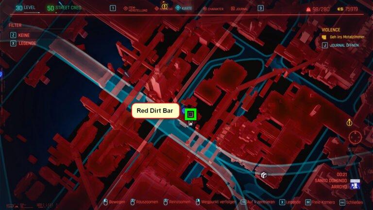 Position für ikonische Waffe Archangel in Cyberpunk 2077