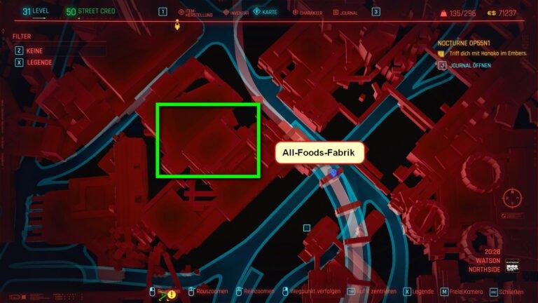 Position für ikonische Waffe Chaos in Cyberpunk 2077