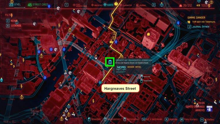 Position des Schemas für Comrade's Hammer in Cyberpunk 2077
