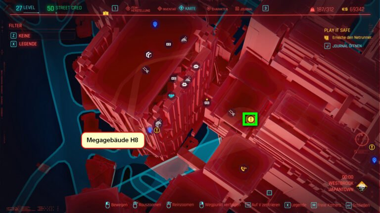 Position für ikonische Waffe Jinchu-Maru in Cyberpunk 2077