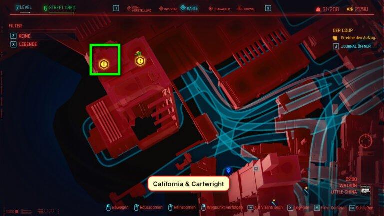 Position für ikonische Waffe Kongou in Cyberpunk 2077