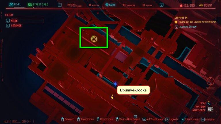 Position für ikonische Waffe Malorian Arms 3516 in Cyberpunk 2077