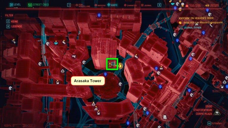 Position für ikonische Waffe Pride in Cyberpunk 2077