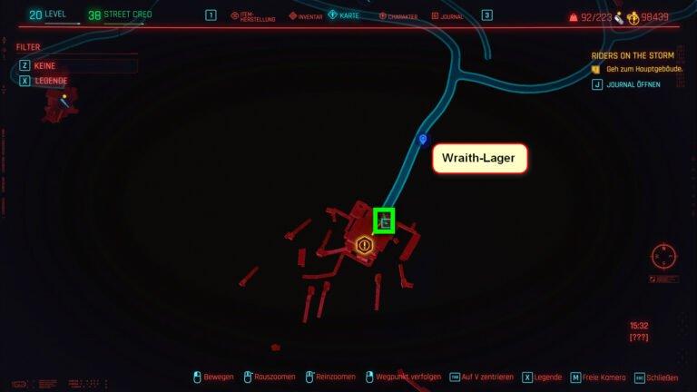 Position für ikonische Waffe Problem Solver in Cyberpunk 2077