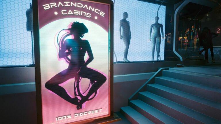 Braindance-Werbung in Cyberpunk 2077