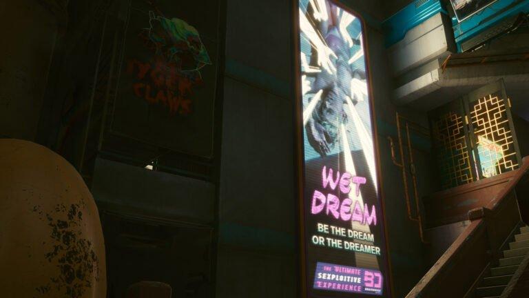 Wet Dream-Braindance Werbung in Cyberpunk 2077