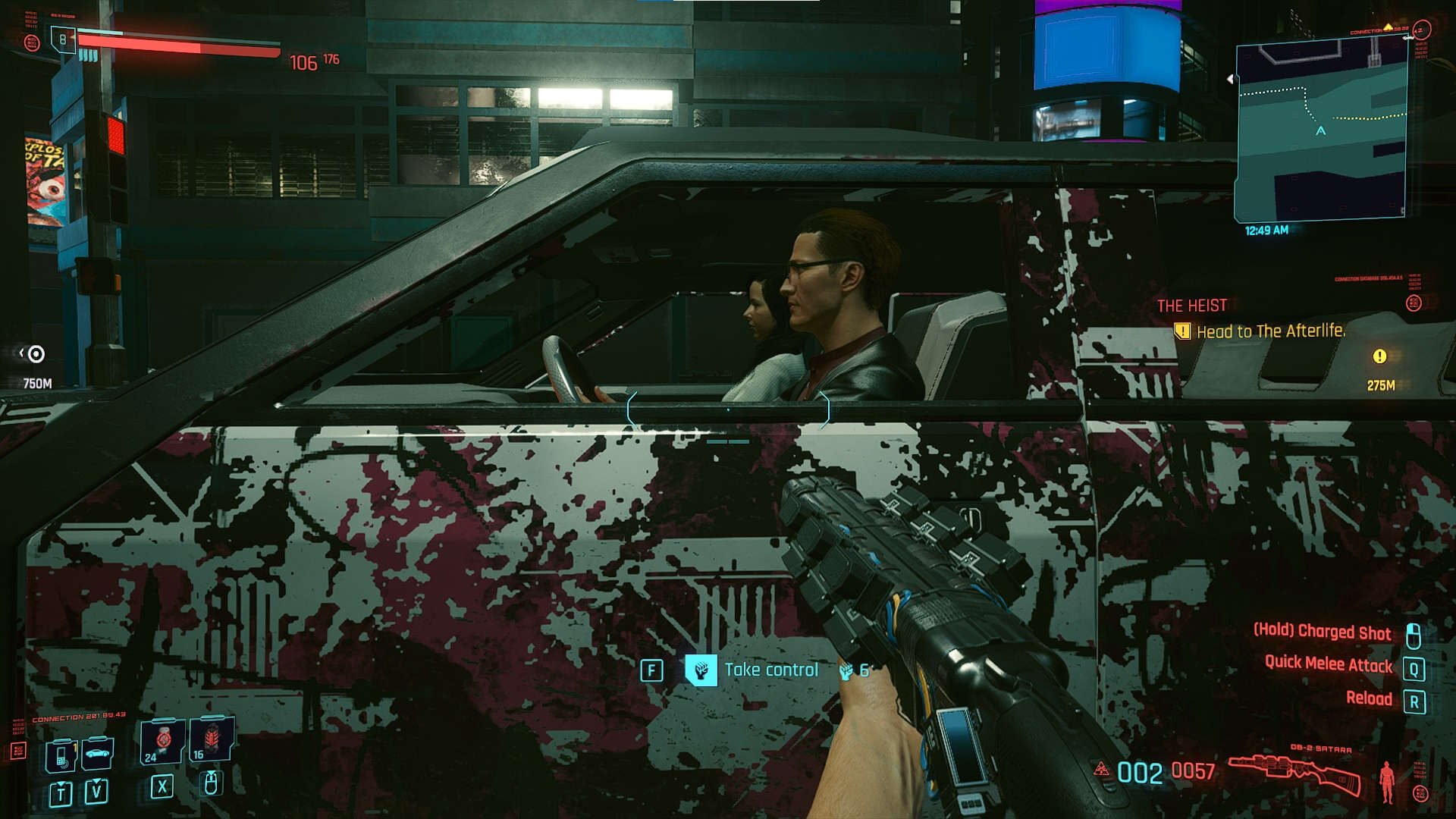 Cyberpunk 2077 Vehiclescar hijacking attribute request on the car door