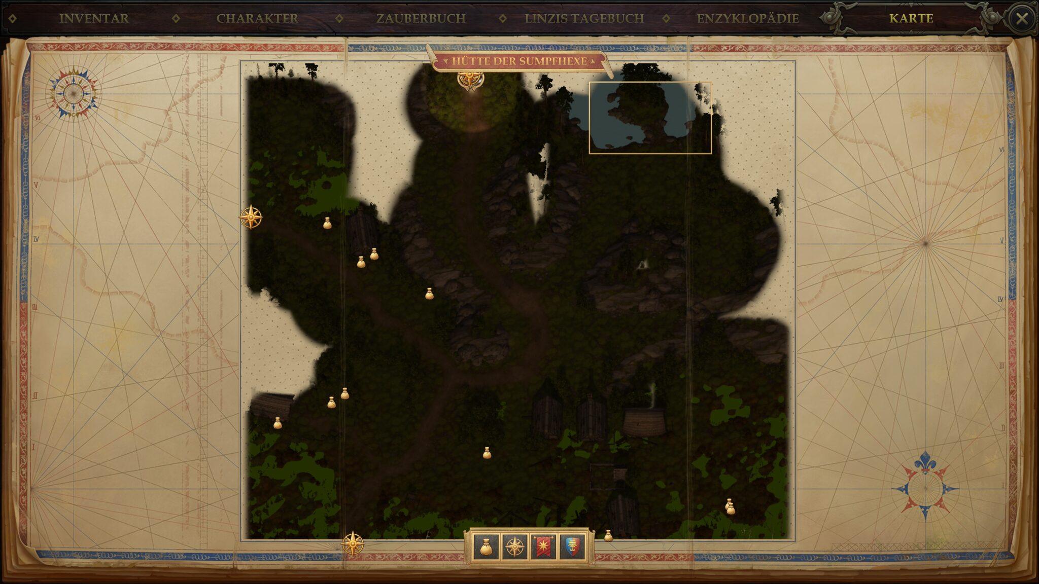 """Tiressia findet ihr rechts oben auf der Karte """"Hütte der Sumpfhexe"""". © Owlcat Games"""