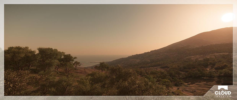 Nein, das ist kein Bild von Roberts' Dauerurlaub, das ist auf dem Planeten Hurston in Star Citizen. © Cloud Imperium Games