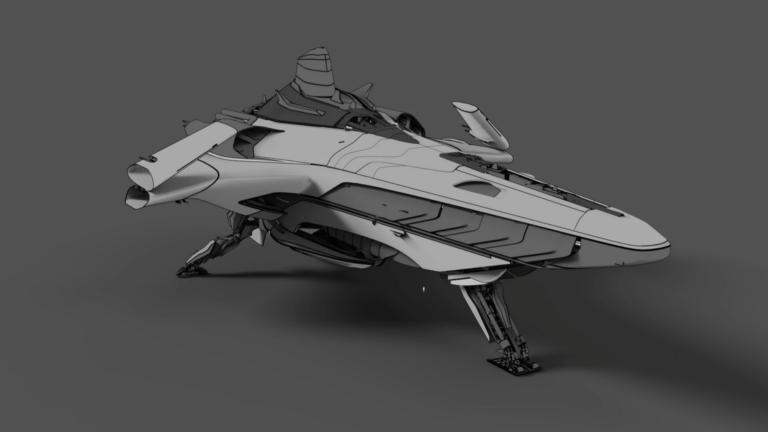 Das Raumschiff Banu Merchantman in Star Citizen, neues Konzeptmodell 2021