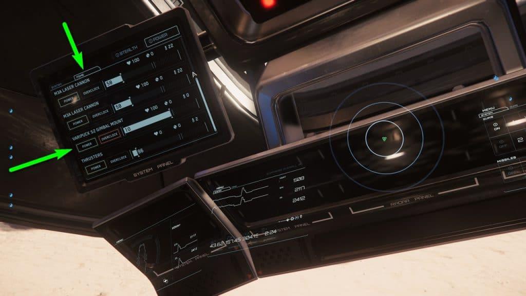 """Unter """"Items"""" findet ihr Overclocking-Möglichkeiten für Waffen, Schilde und den Mininglaser. © Cloud Imperium Games / SPACE4GAMES"""