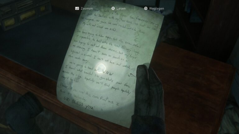 Artifact Seth´s note in The Last of us 2