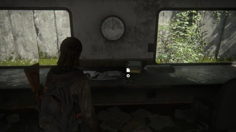 Das Artefakt Infizierte-Infografik auf einem Tisch in The Last of Us 2
