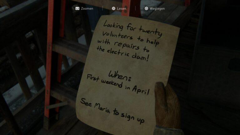 Artefakt Freiwilligen-Anfrage in The Last of Us 2
