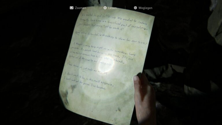 The artifact Suicide Note in The Last of Us 2.