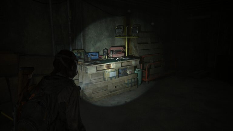 The workbench in the Tunnels in The Last of Us 2.