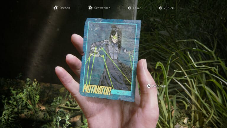 Trading Card Motivator in The Last of Us 2