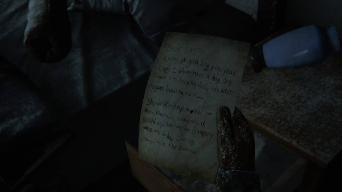 Ein handgeschriebener Brief an den Weihnachtsmann