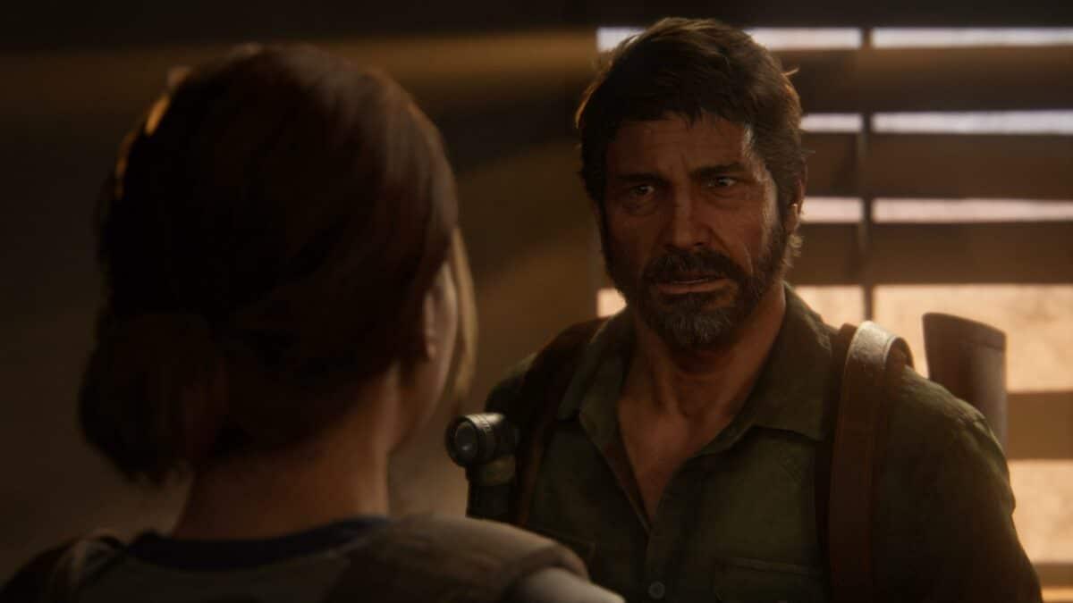 Ellie und Joel sprechen sich in der Cafeteria des Hotels in The Last of Us Part 2 aus.