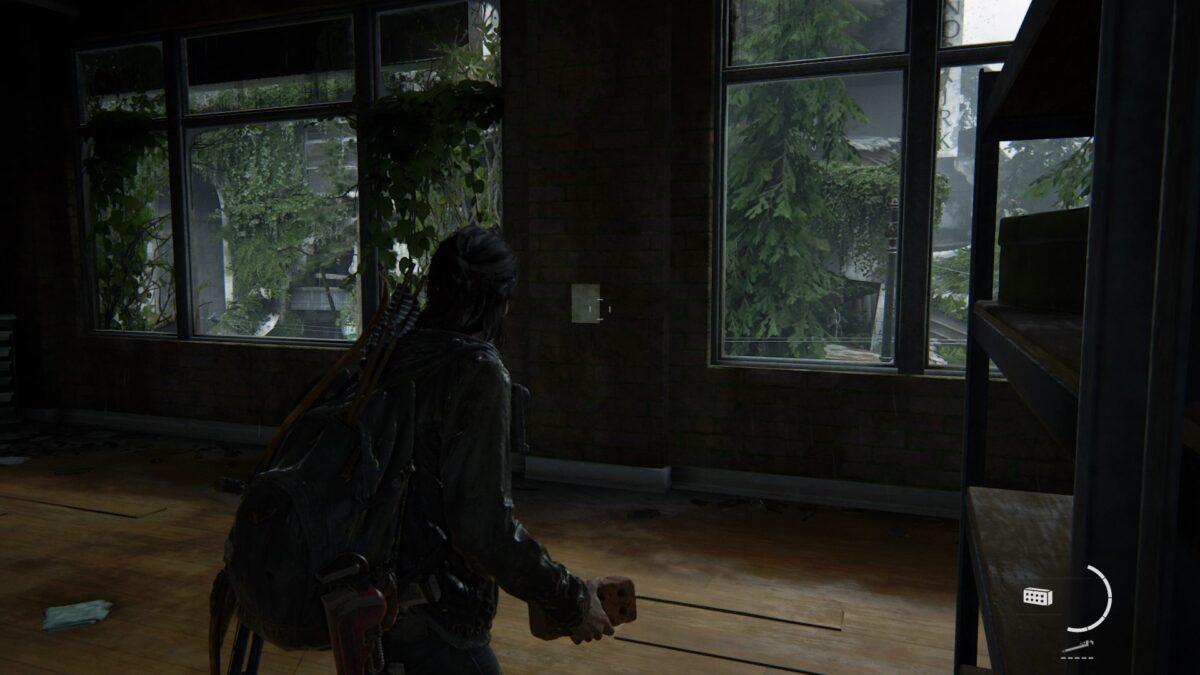Ellie findet in The Last of Us 2 eine Notiz an der Wand des Stofflagers.