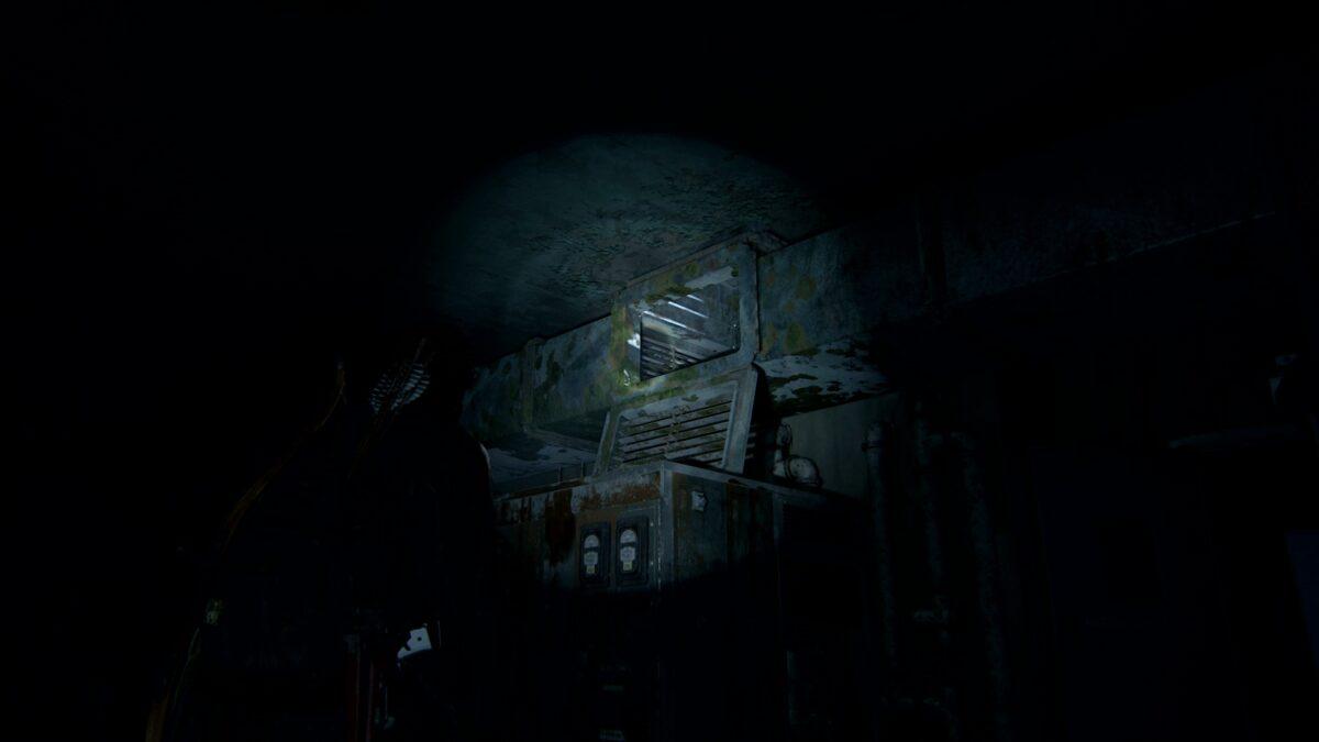 Ellie steht in The Last of Us 2 vor einem Luftschacht.