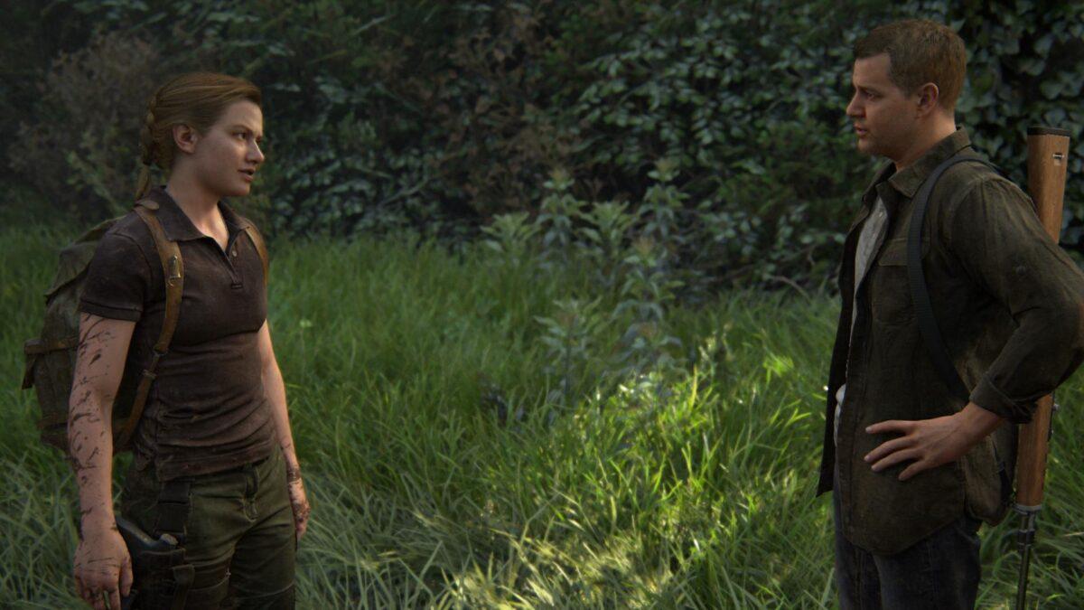 Abby und ihr Vater unterhalten sich im Zoo von The Last of Us 2.