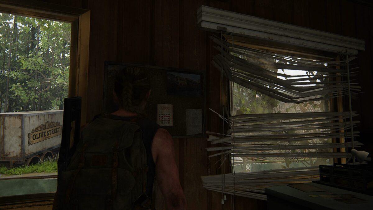 Abby findet in The Last of Us 2 einen Lottoschein, der ihr die Kombination für einen Safe verrät.