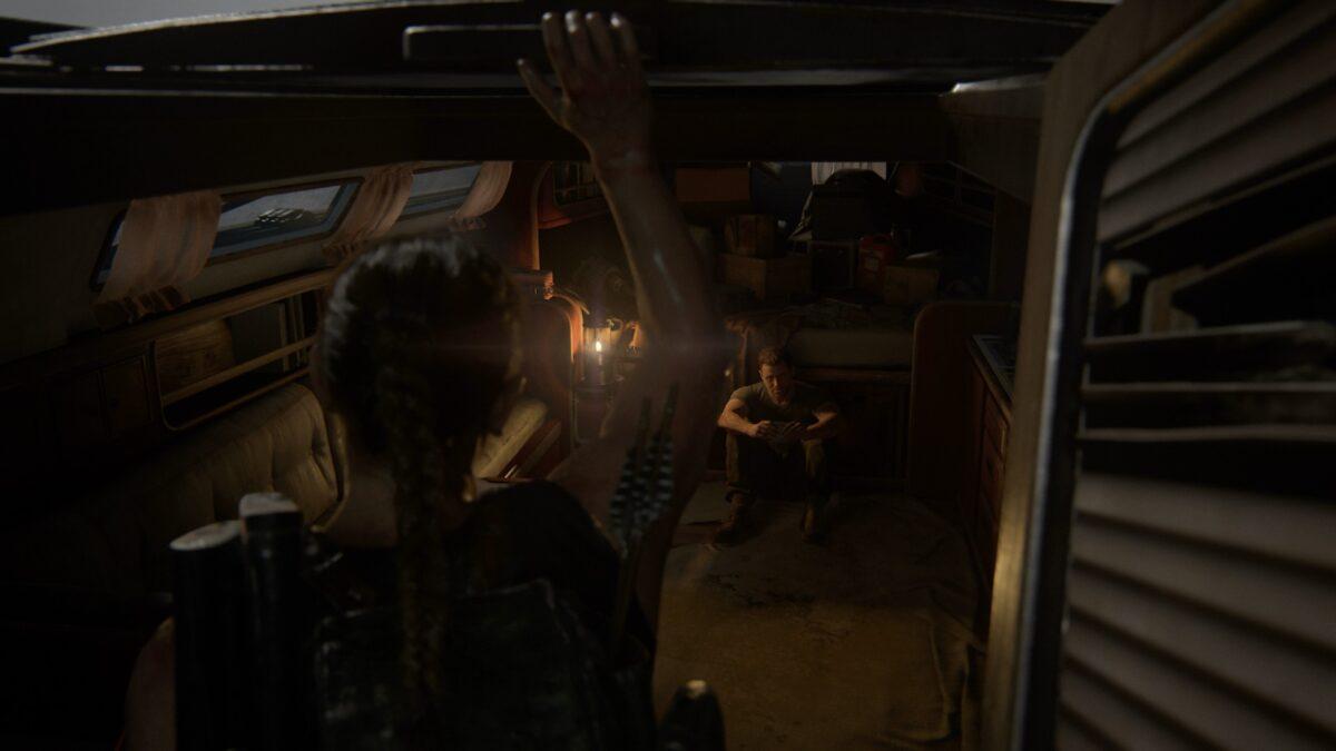 Abby findet Owen in The Last of Us 2 auf seiner Jacht.