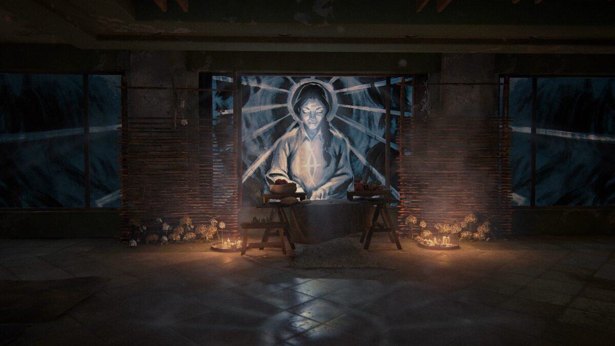 Ein Seraphiten-Altar in The Last of Us 2.